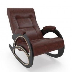 Кресло-качалка МИ Модель 4 венге, Венге, к/з Antik Crocodile